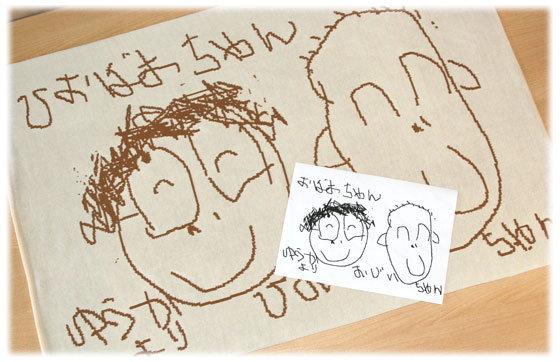 子供が描いた似顔絵